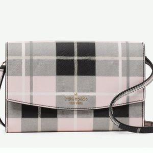 Kate Spade Laurel Way Woodland plaid Crossbody bag